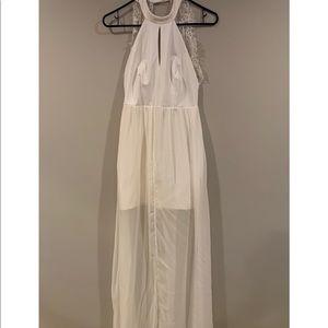 White cocktail/maxi dress